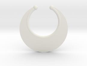 Faux Septum Ring -  Crescent (medium) in White Natural Versatile Plastic