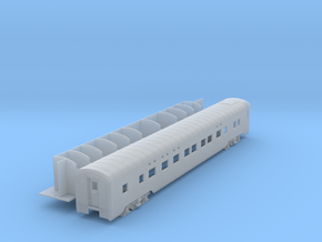 Pullman 4-4-2 sleeper, plan 4069 (1/160) in Smooth Fine Detail Plastic