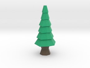 Low-Poly Tree [3.3 in] in Full Color Sandstone