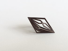 Diamond Pendant mk2 in Polished Bronze Steel