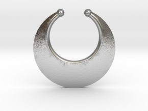 Faux Septum Ring -  Crescent (medium) in Natural Silver