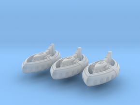 Nikkhassar Dhows (3) in Smooth Fine Detail Plastic