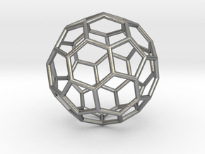 0024 Fullerene c60-ih Bonds/Truncated icosahedron in Natural Silver