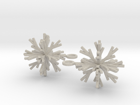 Snowflake Earring Iva in Natural Sandstone