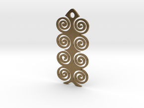 Spiral Pendant in Natural Bronze