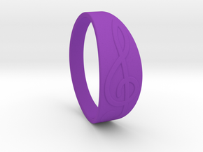 Size 10 M G-Clef Ring  in Purple Processed Versatile Plastic
