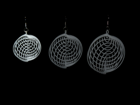 Running in Circles - Earrings in White Processed Versatile Plastic: Medium