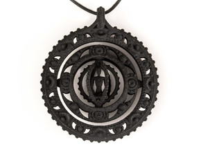 Inner Compass  in Black Natural Versatile Plastic