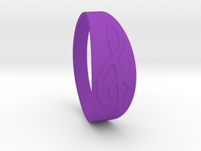 Size 9 M G-Clef Ring  in Purple Processed Versatile Plastic