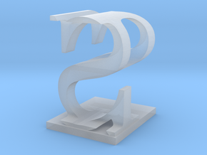 Two way letter / initial P&S in Smooth Fine Detail Plastic