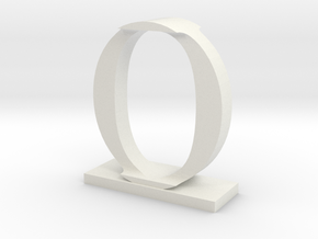 Two way letter / initial I&O in White Natural Versatile Plastic