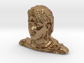 Jeanne d'Arc in Natural Brass