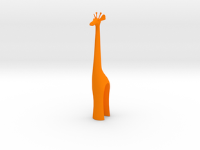Giraffe in Orange Processed Versatile Plastic