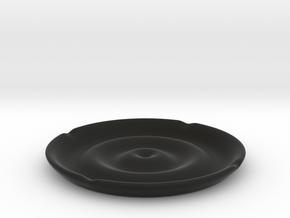 Ashtray_Puddle in Black Natural Versatile Plastic