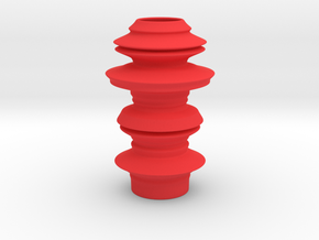 Earthen style Vase in Red Processed Versatile Plastic