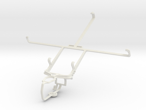 Controller mount for PS3 & BlackBerry Playbook 201 in White Natural Versatile Plastic