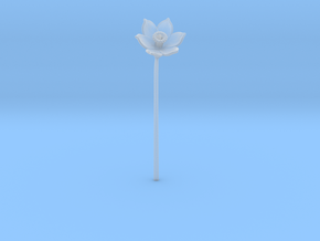 Narcissus Flower in Smooth Fine Detail Plastic