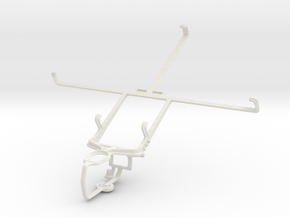 Controller mount for PS3 & BlackBerry PlayBook WiM in White Natural Versatile Plastic