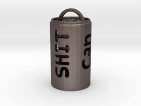 Big Can of Sh!T  in Polished Bronzed Silver Steel