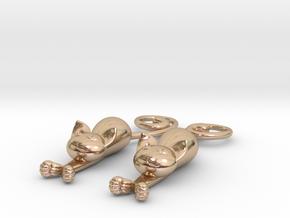 Kittens - earrings in 14k Rose Gold