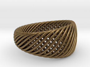 Twisted Ring - Size 7 in Natural Bronze