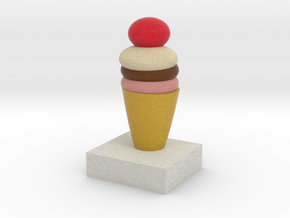 One Ice Cream Model in Full Color Sandstone