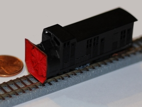 Railroad Snow Plow - Zscale in Smooth Fine Detail Plastic