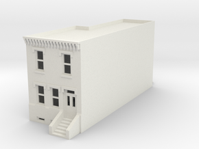 N SCALE ROW HOUSE FRONT 2S WHOLE REV fixed  in White Natural Versatile Plastic