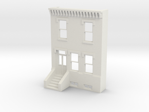 S SCALE ROW HOME FRONT 2S in White Natural Versatile Plastic
