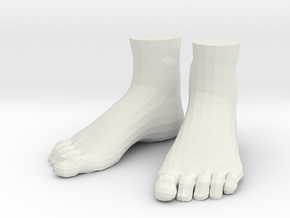"""LittleFeet for Everything - Human (1.5""""h) in White Natural Versatile Plastic"""