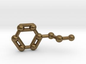 Phenethylamine Molecule Keychain Pendant in Natural Bronze