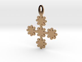Flower pendant in Polished Brass
