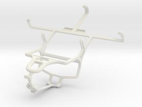 Controller mount for PS4 & Gigabyte GSmart Aku A1 in White Natural Versatile Plastic