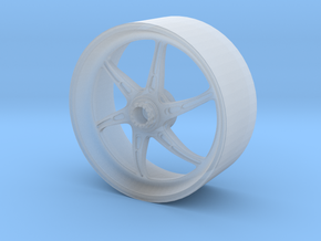 OZ CATTIVA DUCATI SBK REAR WHEEL FOR TAMIYA 1:12 in Smooth Fine Detail Plastic