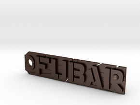 Fubar tag or keychain fob in Matte Bronze Steel