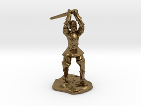 Human Paladin Zealot of Pelor With Longsword in Natural Bronze
