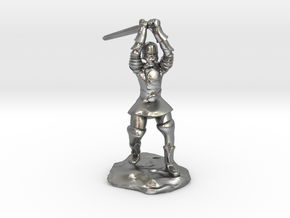 Human Paladin Zealot of Pelor With Longsword in Natural Silver