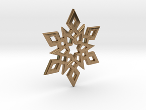 Snowflake Charm 2 in Natural Brass
