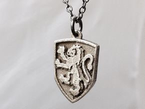 Gryffindor Necklace in Polished Bronzed Silver Steel