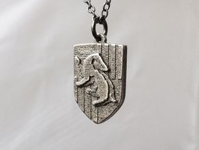 Hufflepuff Crest Necklace in Stainless Steel