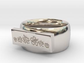 Flower  Ring Version 1 in Platinum