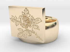 Rose Ring in 14K Yellow Gold
