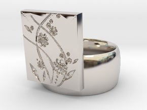 Flower  Ring Version 2 in Platinum