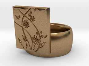 Flower  Ring Version 2 in Natural Brass