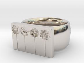 Flower Ring Version 10 in Platinum