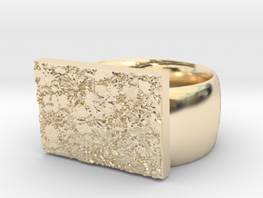 Flowers Ring Version 10 in 14K Yellow Gold