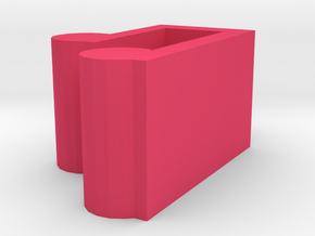 Music Note Necklace Pendant in Pink Processed Versatile Plastic