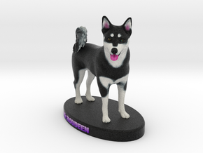 Custom Dog Figurine - Houdini in Full Color Sandstone