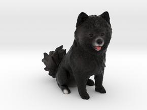 Custom Dog Figurine - Misko in Full Color Sandstone