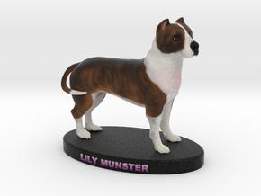 Custom Dog Figurine - Lily Munster in Full Color Sandstone
